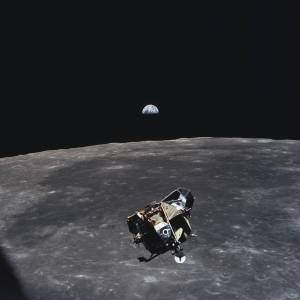 Every human being, alive or dead in July of 1969 is in this picture, save one - the photographer Michael Collins.