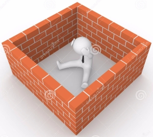 d-man-surrounded-brick-wall-render-35185688